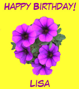 Pretty Purple Flowers Birthday Add Her Name Front Card