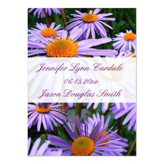 Pretty Purple Flowers Elegant Wedding Invitations