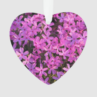 Pretty Purple Flowers Holiday Christmas Ornament