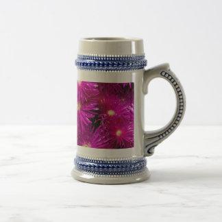 Pretty Purple Flowers in Full Bloom Beer Stein