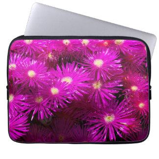 Pretty Purple Flowers in Full Bloom Computer Sleeve