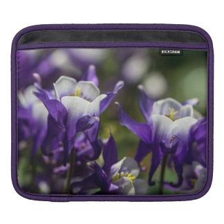 Pretty Purple Flowers iPad Sleeve