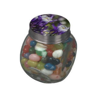Pretty Purple Flowers Jelly Belly Candy Jars