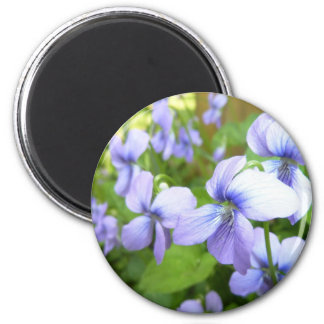 Pretty Purple Flowers Fridge Magnet