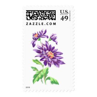 Pretty Purple Flowers Postage