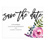 Pretty Purple Flowers Save the Date Postcard