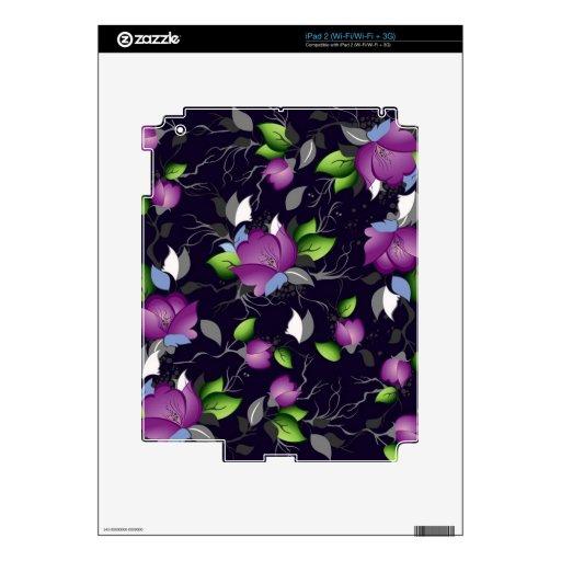 Pretty Purple Flowers Skin For The iPad 2