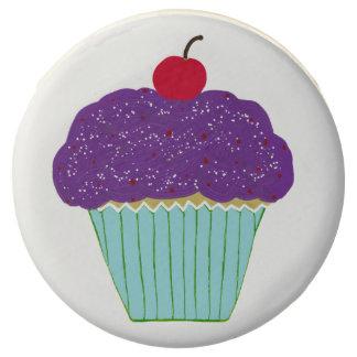 Pretty Purple Frosting Cherry Vanilla Cupcake Chocolate Covered Oreo