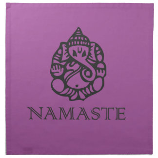 Pretty Purple Ganesh Design Napkin