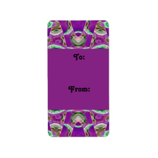 pretty purple gift tags