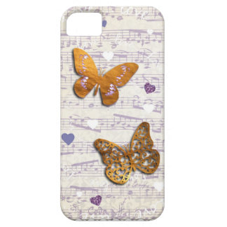 Pretty Purple & Gold butterflies & music collage iPhone 5 Covers