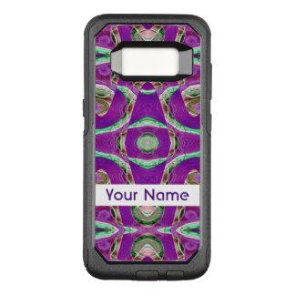Pretty Purple Green Mosaic Pattern OtterBox Commuter Samsung Galaxy S8 Case