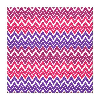 Pretty Purple Hot Pink Chevron Zigzag Pattern Canvas Print