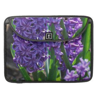 Pretty Purple Hyacinth Sleeves For MacBook Pro