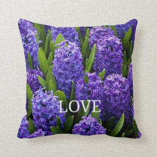 Pretty Purple Hyacinths in Bloom Throw Pillow
