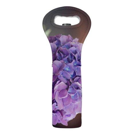 Pretty Purple Hydrangea Macro Photography Wine Bag