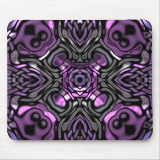 Pretty Purple Inlaid Pattern Design Mouse Pad
