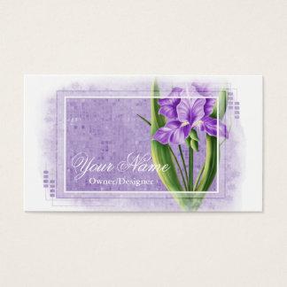 Pretty Purple Iris Flower Business Cards d2