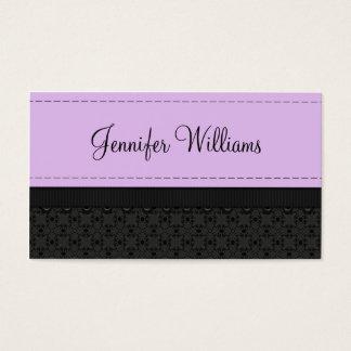 Pretty Purple Label Ribbon Business Cards