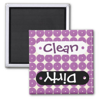 Pretty Purple Lilac Circles Disks Textured Buttons 2 Inch Square Magnet
