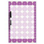 Pretty Purple Lilac Circles Disks Textured Buttons Dry-Erase Whiteboard