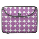 Pretty Purple Lilac Circles Disks Textured Buttons Sleeves For MacBook Pro