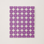 Pretty Purple Lilac Circles Disks Textured Buttons Jigsaw Puzzle