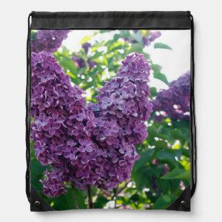Pretty Purple Lilacs Cinch Bags