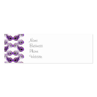 Pretty Purple Masquerade Ball Masks Mardi Gras Double-Sided Mini Business Cards (Pack Of 20)