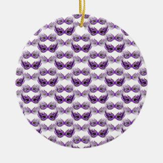 Pretty Purple Masquerade Ball Masks Mardi Gras Christmas Ornament