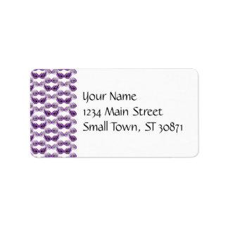 Pretty Purple Masquerade Masks Mardi Gras Address Label