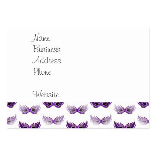 Pretty Purple Masquerade Masks Mardi Gras Business Card Templates