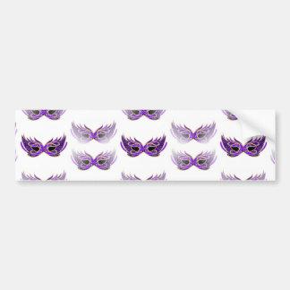 Pretty Purple Masquerade Masks Mardi Gras Car Bumper Sticker