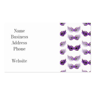 Pretty Purple Masquerade Masks Mardi Gras Double-Sided Standard Business Cards (Pack Of 100)