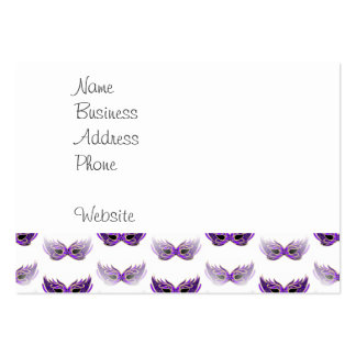 Pretty Purple Masquerade Masks Mardi Gras Large Business Cards (Pack Of 100)
