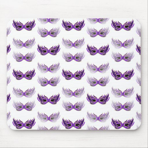 Pretty Purple Masquerade Masks Mardi Gras Mouse Pad