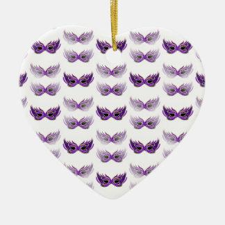 Pretty Purple Masquerade Masks Mardi Gras Christmas Ornaments