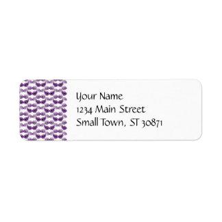 Pretty Purple Masquerade Masks Mardi Gras Return Address Label