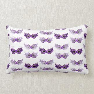 Pretty Purple Masquerade Masks Mardi Gras Throw Pillows