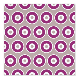 Pretty Purple Mauve Concentric Circles Pattern Card