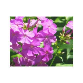 Pretty Purple Morris Berd Flowers Canvas Stretched Canvas Print