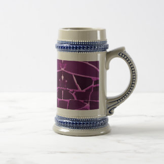 Pretty Purple Mosaic Tiles Girly Pattern Beer Stein