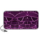 Pretty Purple Mosaic Tiles Girly Pattern Mp3 Speaker