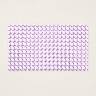 Pretty Purple Pain Awareness Butterflies Business Card