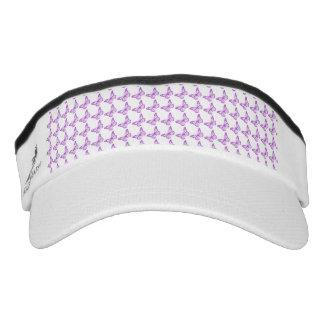 Pretty Purple Pain Awareness Butterflies Headsweats Visor