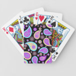 Pretty Purple Paisley (dark) Bicycle Poker Cards