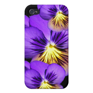 Pretty Purple Pansies iPhone 4/4S Cover
