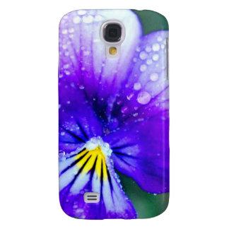 Pretty Purple Pansy Galaxy S4 Cover