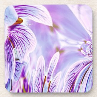 Pretty Purple Pansy Print Coasters