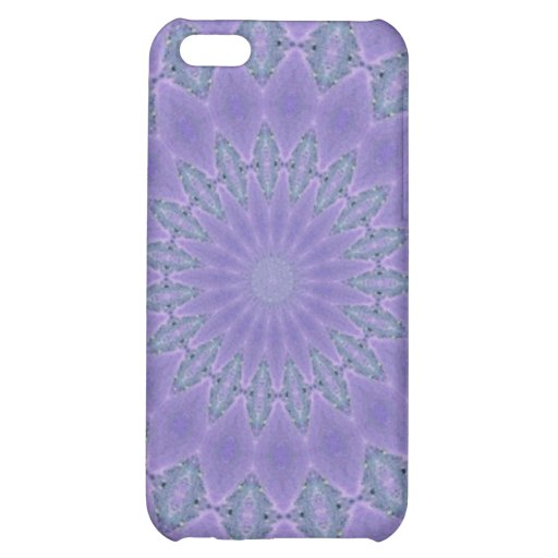 Pretty purple pattern case for iPhone 5C
